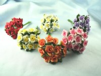 Artificial  Ribbon Roses,  Lilies