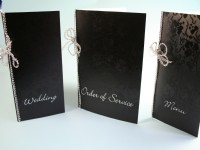 Black  Tapestry Wedding Stationery