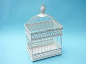 Decorative Metal Bird Cage 22 x 15 x 39.5cm