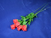 Long Stem Red Rose Bud