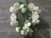 Large Decorative Floral Heart with Crystals