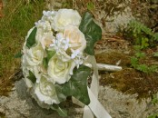 Artificial Large Mixed Rose Bridal Bouquet