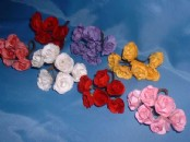 Paper Flowers - Wild Rose  x 6