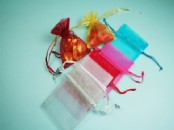 Medium Chiffon, Organza  Favour Bags  x 10