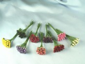 Paper Flowers - Tiny Rose Buds x 24