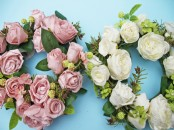 Artificial Foam Rose Wreath