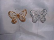 Glitter  Artificial Butterflies x 12