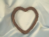20cm Willow Heart Wreath