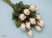 Bunch of 12 Artificial Rose Buds