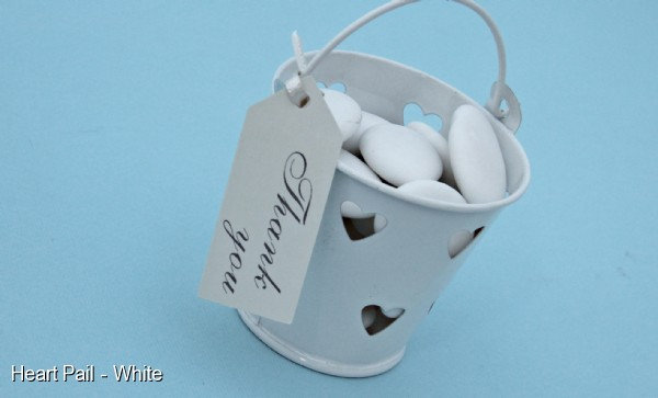 Heart Bucket Favours x 10