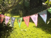 Gingham Fabric Bunting with Hearts x 2m