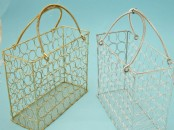 Gold or Silver Wire Mesh Handbag  - Large