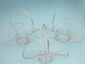 Set of 3 Wire Posy Baskets