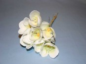 Old Fashioned Plastic Christmas Rose x 10