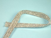 Diamante Trim x 4 Wide x  50cm Long