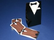 Evening Suit Wedding Favour Boxes  x 10