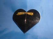 Gold or Silver Heart Favour Boxes x 10