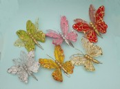 Artificial Clip on Glitter Butterfly x 1