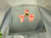 20cm Square Table  Mirror Plates