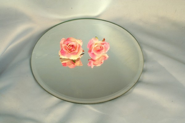 LM1002 - 25cm Round  Table Mirror Plates