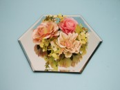 25cm Hexagonal  Table Mirror Plates