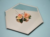 30 cm Hexagonal  Table  Mirror Plates