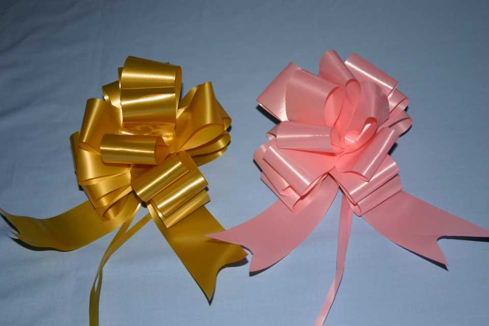 Florist Ribbon Pull Bows Instant bows great for wedding venue decoration
