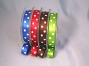 Polka Dot  Ribbon 15mm x 20 meters