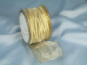 Holly Wired Organza  Ribbon 50mm x 25m
