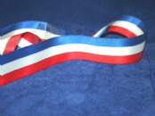Patriotic Satin Ribbon  27mm wide  x  5 meters