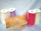 Extra Wide Wired Chiffon Ribbon (120mm x 10m)