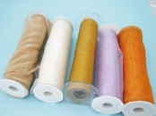 Extra Wide Wired Chiffon Ribbon  (240 mm x 5m )