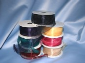 Wired Edged Organza  Ribbon 40mm wide x 20metres