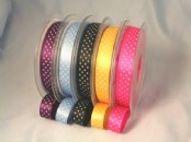 Micro Polka Dot  Ribbon 15mm x 20 metres