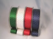 Micro Polka Dot  Ribbon 25mm x 20 metres