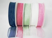 Wired Chiffon (Organza) Ribbon 25 mm wide X  25m