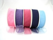 Wired Chiffon (Organza) Ribbon 38 mm wide X  25m