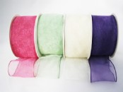 Wired Chiffon (Organza) Ribbon 60 mm wide X  25m