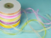 6mm Chiffon/Organza Ribbon x 25yds