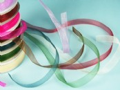 10mm Chiffon/Organza Ribbon  x 25yds
