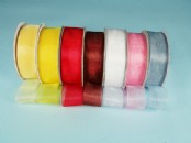 25mm Chiffon/Organza  Ribbon  x 25 yds