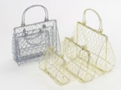 Wire Handbag . set of 3