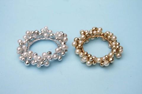 SA51128 - Pearl Bead Candle Ring