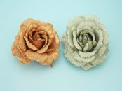 Glitter Rose Head Corsage