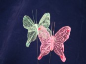 Large Sheer Decorative Butterfly x 12