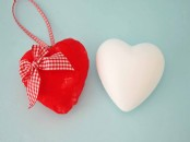 Medium Styrofoam Heart 9cm  x 1