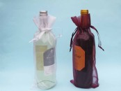 Chiffon Wine Favour/Gift Bag x 1