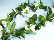 Artificial Morning Glory Flower Garland