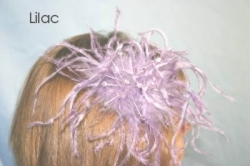 lilac feather headdress